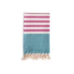 Towel to Go Neon Hamamtuch Fuchsia/Türkis Tuch