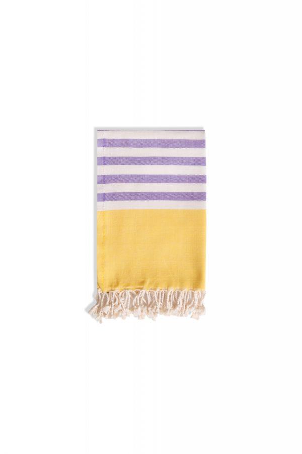 Towel to Go Neon Hamamtuch Gelb/Lila Box Tuch