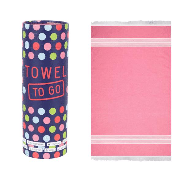 Towel to Go Baumwoll Hamamtuch Oasis Fuchsia