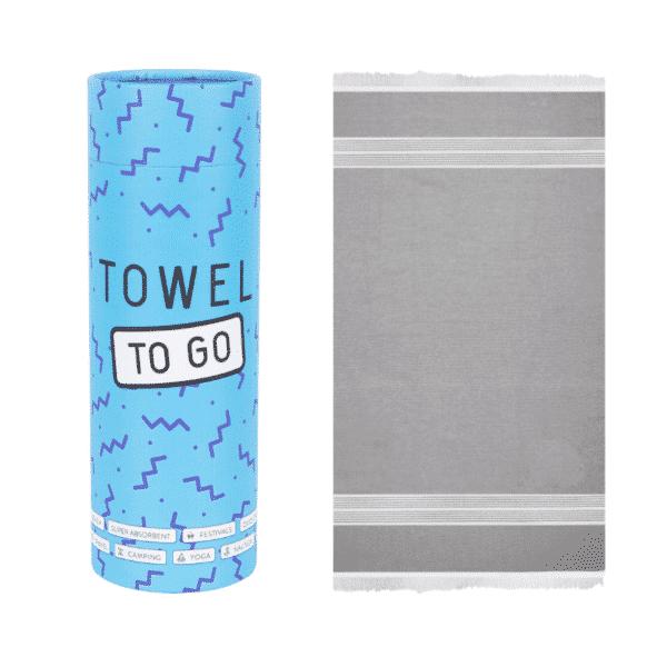 Towel to Go Baumwoll Hamamtuch Oasis Grau