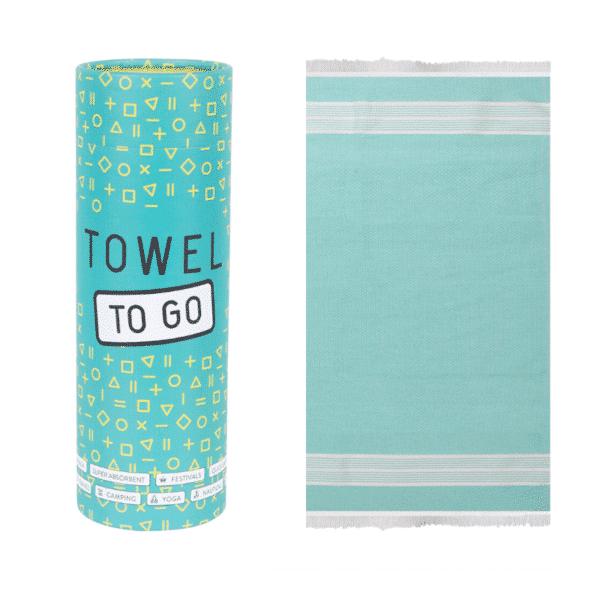 Towel to Go Baumwoll Hamamtuch Oasis Turkis