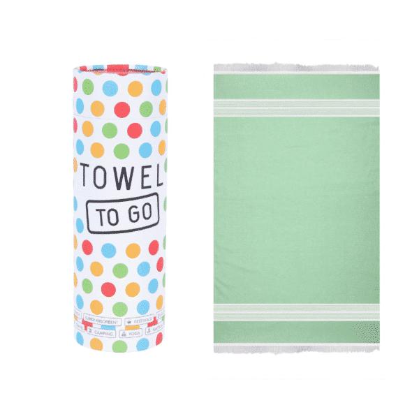 Towel to Go Baumwoll Hamamtuch Grün Oaasis