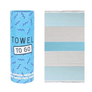 Towel to Go Bali Hamamtuch Blau Grau