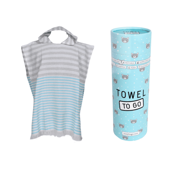Towel to Go Kinder Poncho blau