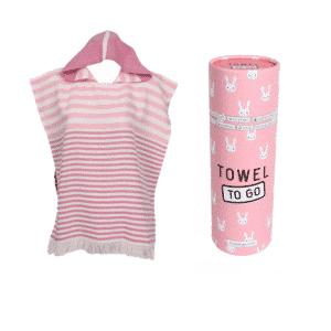 Towel to Go Kinder Poncho Pink