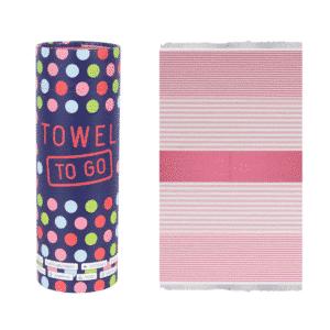 Towel to Go Bali Hamamtuch Fuchsia Pink
