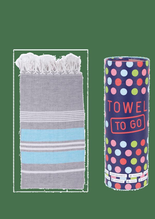Towel to Go Ventura Hamatuch Anthrazit Blau