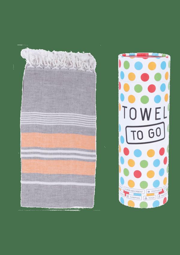 Towel to Go Ventura Hamatuch Anthrazit Orange