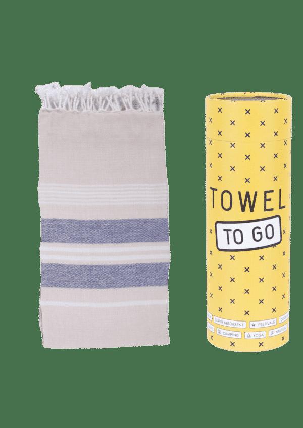 Towel to Go Ventura Hamatuch Blau Beige
