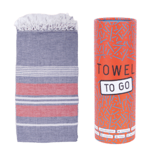Towel to Go Ventura Hamatuch Blau Rot