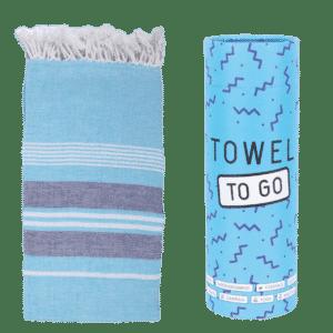 Towel to Go Ventura Hamatuch Blau Hellblau