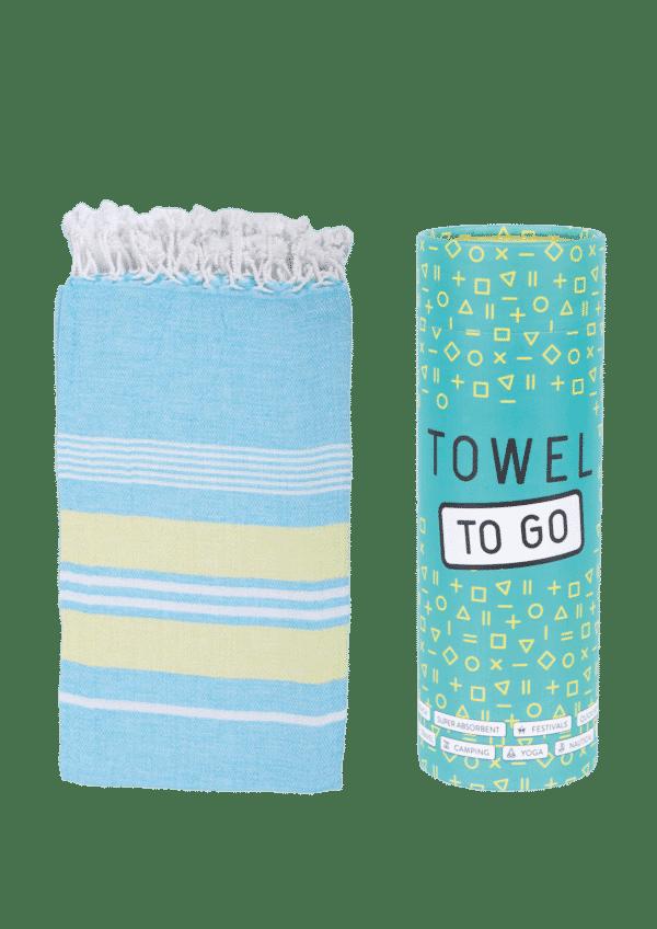 Towel to Go Ventura Hamatuch Blau Orange
