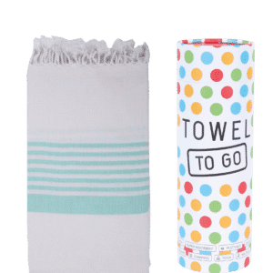 Towel to Go Madagaskar Hamamtuch Türkis/White