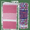 Towel to Go Madagaskar Hamamtuch Fuchsia