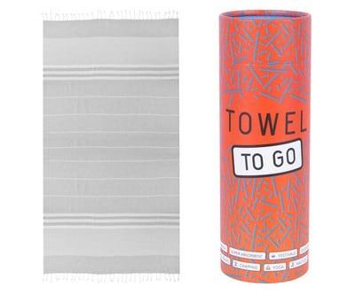 Towel to Go Malibu Hamamtuch Grau