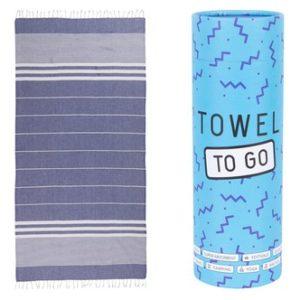 Towel to Go Malibu Hamamtuch Blau