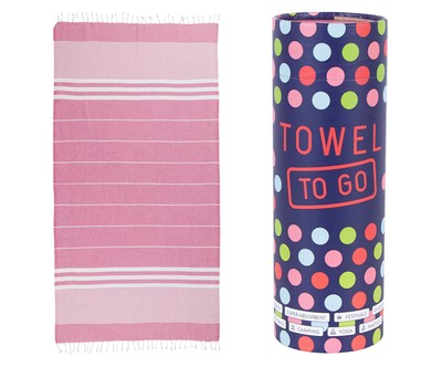 Towel to Go Malibu Pink Hamamtuch