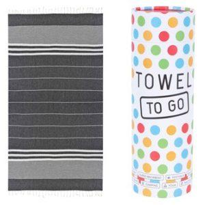 Towel to Go Hamamtuch Malibu Schwarz
