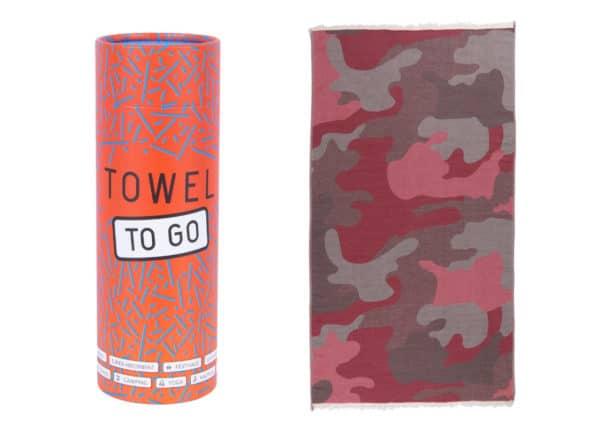 Towel to Go Camouflage Khaki Navy TTGCF003 02 1