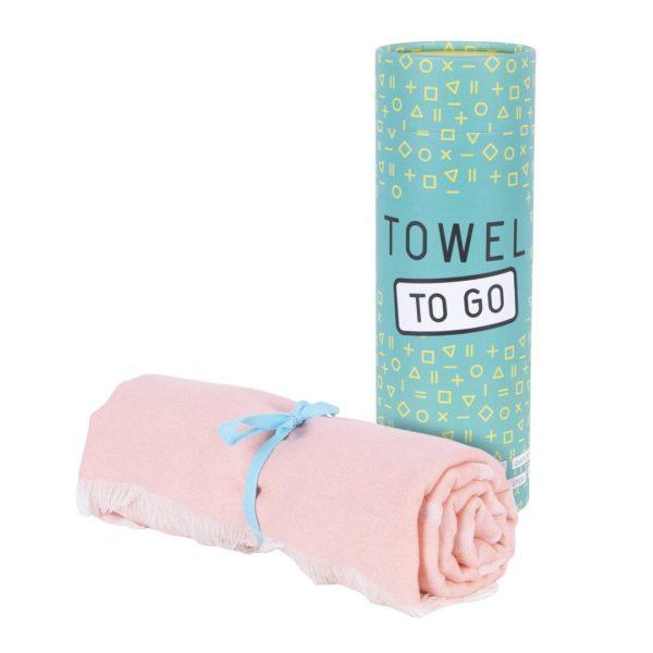 Towel to Go Elephant Apricot TTGELAP 01