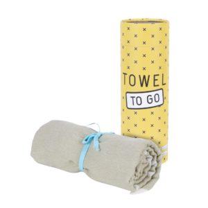 Towel to Go Elephant Khaki TTGELKH 01