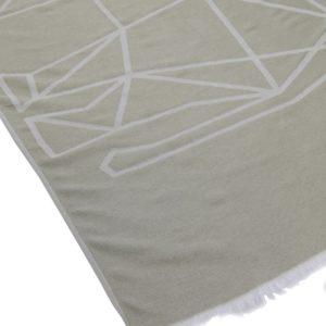 Towel to Go Elephant Khaki TTGELKH 03