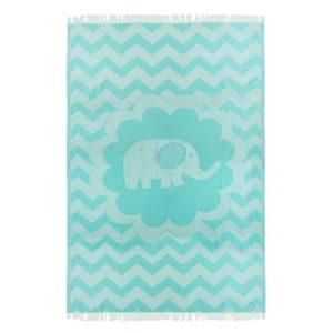 Towel to Go Kids Elephant Turquoise TTGKDELTK 01 1