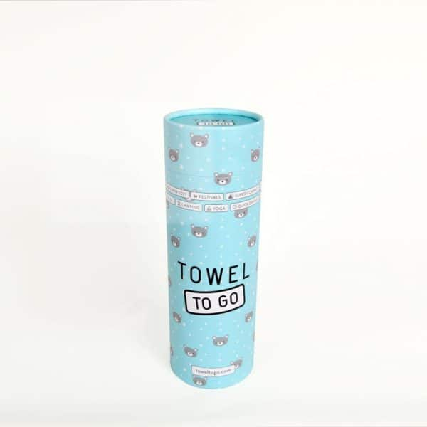 Towel to Go Kids Elephant Turquoise TTGKDELTK 02