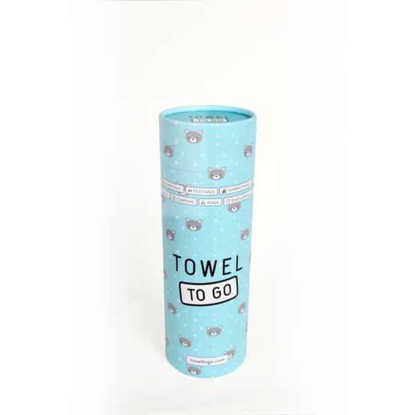 Towel to Go Kids Star Turquoise TTGKDSTTK 02