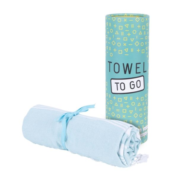 Towel to Go Malibu Turquoise TTGSUTK 02