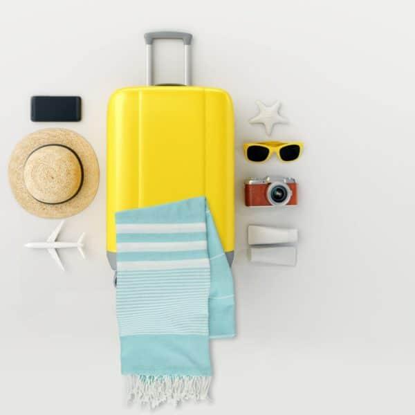 Towel to Go Malibu Turquoise TTGSUTK 03
