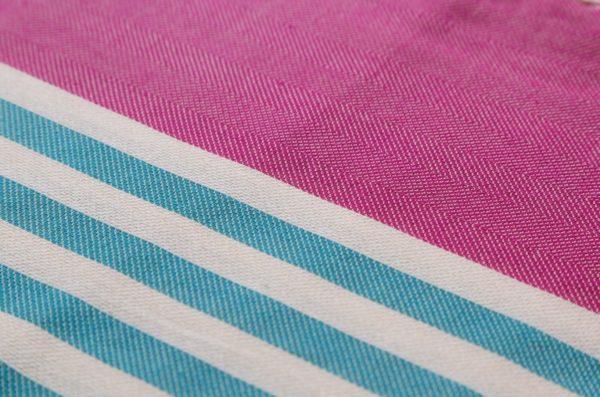 Towel to Go Neon Fuchsia Turquoise TTGNEON016 02