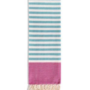 Towel to Go Neon Fuchsia Turquoise TTGNEON016 03